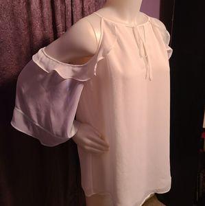 Lauren Conrad white blouse